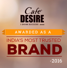 Cafe Desire India's Most trusted brand award