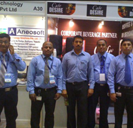 Cafe Desire vending machine sponsers AP IT summit - Hyderabad