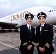 Café desire Dubai coffee Machines congratulates Youngest Emirati female pilot operates Emirates A380