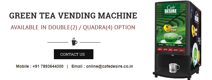 Cafe Desire Green Tea Vending Machine Banner